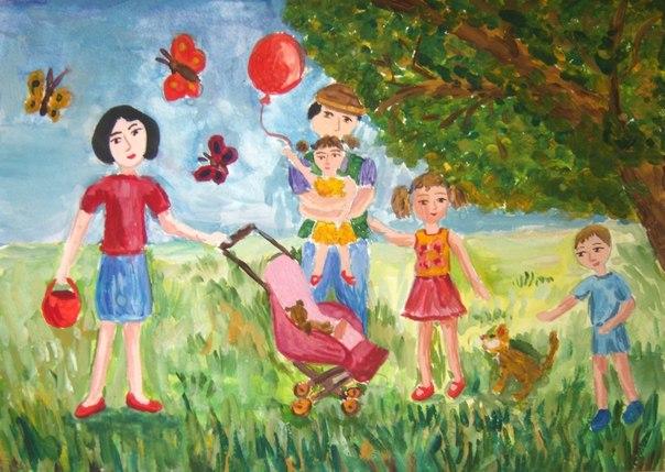 Конкурс рисунков «Крепка семья-крепка страна»